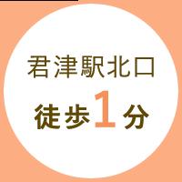 君津駅北口徒歩1分